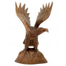 """статуэтка из дерева  """"Орел на скале""""  26см"""