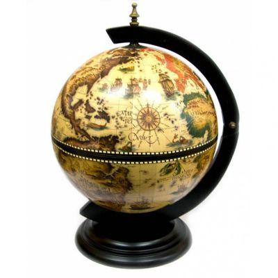 Купить Глобус бар настольный диаметр сферы 33см(светлый) в Москве