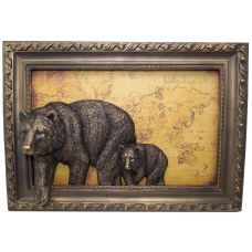 """Панно объемное """"Медведи"""", 37х23 см"""