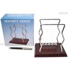 Маятник Ньютона Оригинальный высота 17см, дерево+металл
