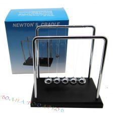 """Маятник Ньютона """"Бизнес"""" на деревянной подставке 18см"""