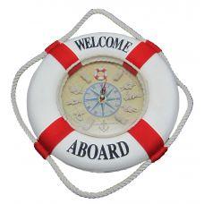 Часы настенные Спасательный круг 35 см красные