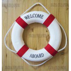 Спасательный круг декоративный красный 35 см