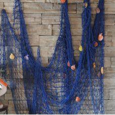 Сеть морская декоративная 2х1.5м  синий цвет