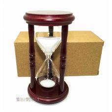 Часы песочные 5 минут  белый  песок