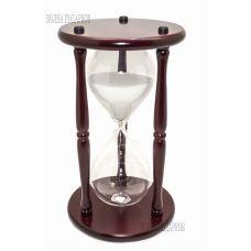 Часы песочные Гигант на 1 ЧАС белый песок,высота 30см.