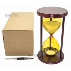 Часы песочные Цветные 30 минут белый песок,высота 22см