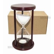 Часы песочные 30 минут белый песок,высота 22см