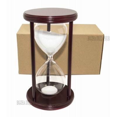 Купить Часы песочные 30 минут белый песок,высота 22см в Москве