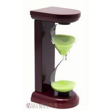 Часы песочные 5 минут  салатовый  песок