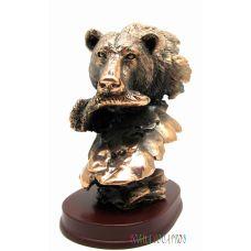 """Статуэтка """"Медведь с рыбой"""""""