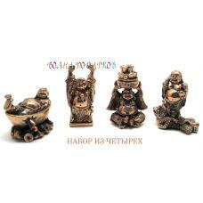 """статуэтки """"Хотей"""" , 6см,комплект из 4 шт"""