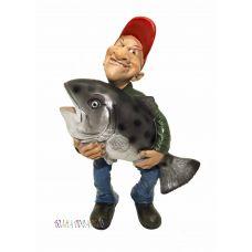 Статуэтка Рыбак с уловом