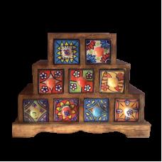 Миникомод - пирамида, 9 ящиков