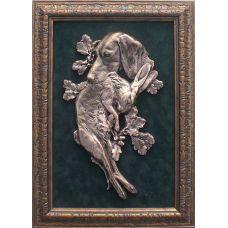 Картина охотничья Собака с зайцем