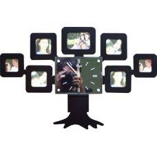 """Часы фоторамка """"Семейное древо"""" черные"""