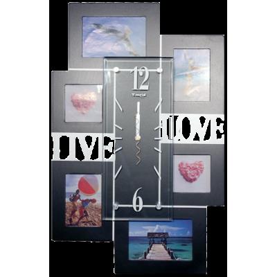 """Купить Часы фоторамка """"Live & Love"""" в Москве"""
