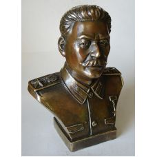 Бюст  Сталина ,бронза,высота 18см