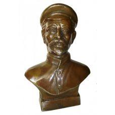 Бюст  Дзержинского ,бронза,высота 18см