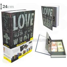 Книга сейф с кодовым замком  LOVE, 24см