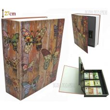 Книга сейф с кодовым замком  Butterfly 27см