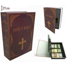Книга сейф с кодовым замком  Библия, 27см