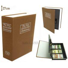 Книга сейф с кодовым замком  Классик, 27см
