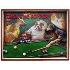 """панно бильярдное с собаками """"Джек Потрошитель"""""""