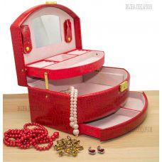 Вместительная Шкатулка для ювелирных украшений и косметики  М1882 RED VINE