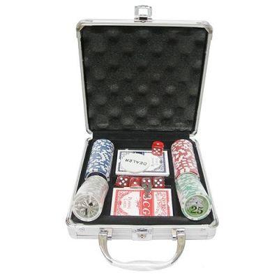 Купить Набор для покера на 100 фишек в кейсе в Москве
