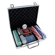 Набор для покера на 200 фишек(без номинала) в кейсе