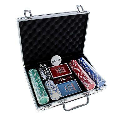 Купить Набор для покера на 200 фишек(без номинала) в кейсе в Москве