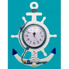 Якорь морской декоративный с часами,высота 42см