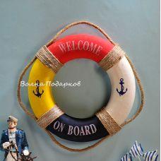 Спасательный круг декоративный морской,50см