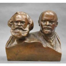 Бюст Ленин-Маркс, бронза