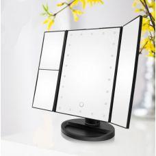 Зеркало косметическое с LED подсветкой.черный цвет