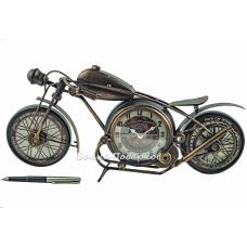 Мотоцикл с часами,43см