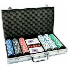 Набор для покера на 300 фишек без номинала в кейсе