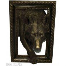 """Панно объемное """"Волк, 45Х32 см"""