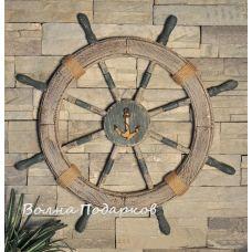 Штурвал пиратский деревянный, 70см