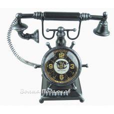 Часы в виде ретро телефона, высота 30см