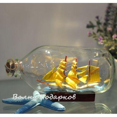Купить Корабль в бутылке,19см в Москве