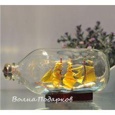 Корабль в бутылке,19см