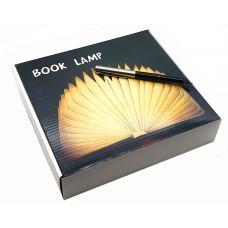 Книга светильник, 15х12см мультиколор, деревянная обложка
