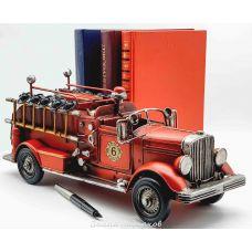 Пожарная машина, ретро-модель 36 см, металл