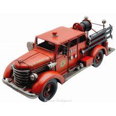 Пожарная машина, ретро-модель 42см, металл