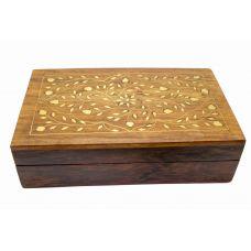 Шкатулка деревянная с инкрустацией