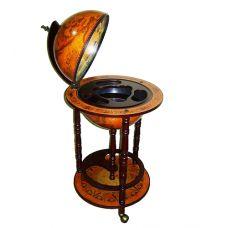 Глобус бар напольный диаметр сферы 33см
