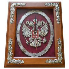 """Часы с символикой """"Герб России"""" 34 cм"""