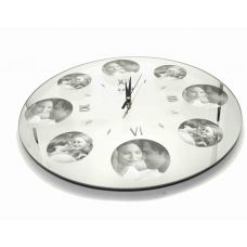 Часы Зеркало с фоторамками  диаметр 35 см